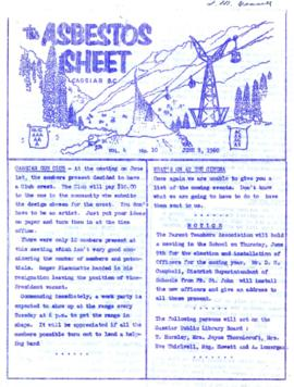 The Asbestos Sheet June 1960