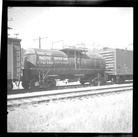 Water tank car on CPR line at Rock Creek