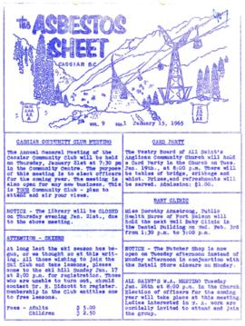 The Asbestos Sheet Jan. 1965