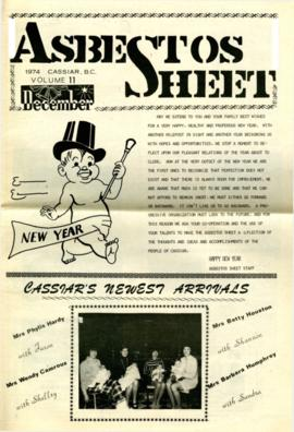 The Asbestos Sheet Dec. 1974