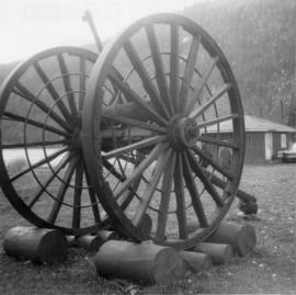 Logging wheels on Princeton-Merritt highway