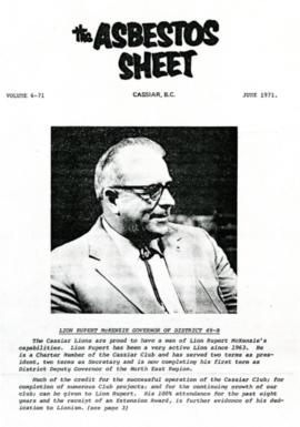 The Asbestos Sheet June 1971