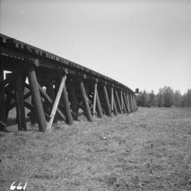 C.N.R. trestle leading to swing bridge