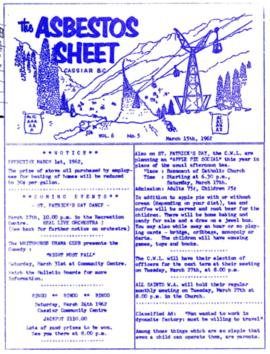 The Asbestos Sheet Mar. 1962