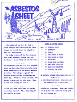 The Asbestos Sheet Oct. 1960