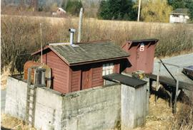 CP fuel storage shed at Harrison Mills