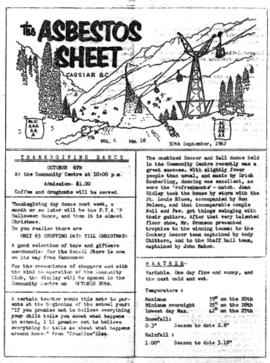The Asbestos Sheet Sept. 1962