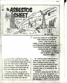 The Asbestos Sheet 23 May 1958