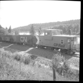 Train near Moyie on the CPR line