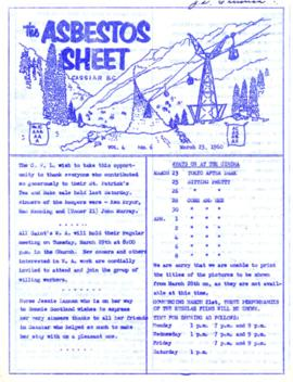 The Asbestos Sheet Mar. 1960
