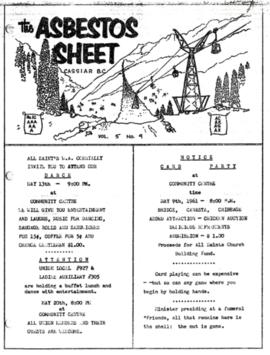 The Asbestos Sheet May 1961