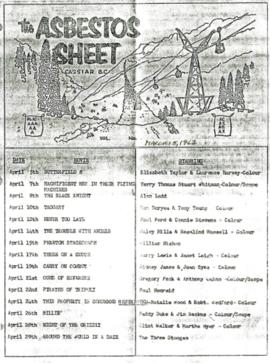 The Asbestos Sheet Mar. 1967