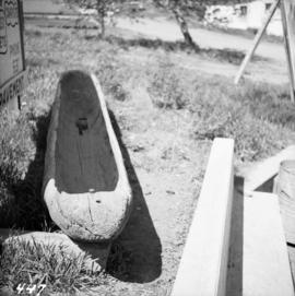 First Nations dugout canoe at Lillooet, BC