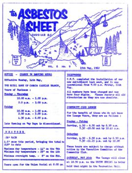 The Asbestos Sheet May 1962
