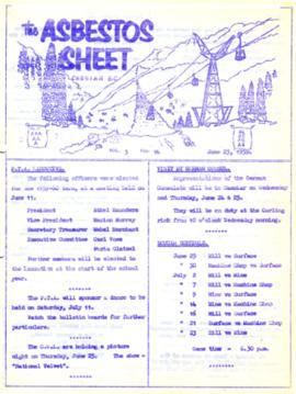 The Asbestos Sheet June 1959