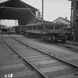 Ballast wagon at B.C. Electric Railway  repair shed