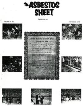 The Asbestos Sheet Nov. 1970