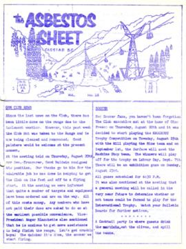 The Asbestos Sheet Aug. 1959