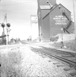 Two grain elevators at Creston