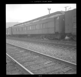 Old CPR passenger car in Salmon Arm
