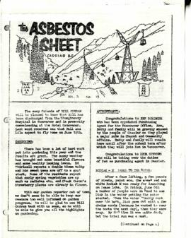 The Asbestos Sheet 7 June 1958