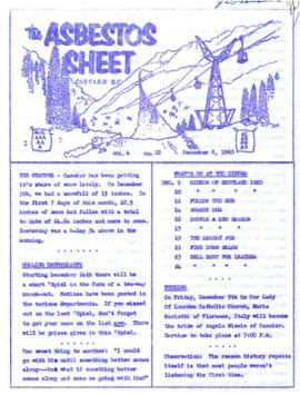 The Asbestos Sheet Dec. 1960