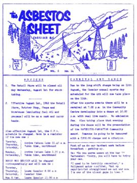 The Asbestos Sheet July 1962