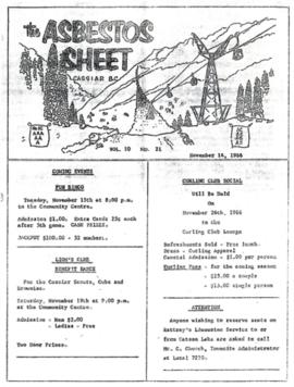The Asbestos Sheet Nov. 1966