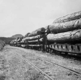 C.P.R. lumber train at Cowichan Lake