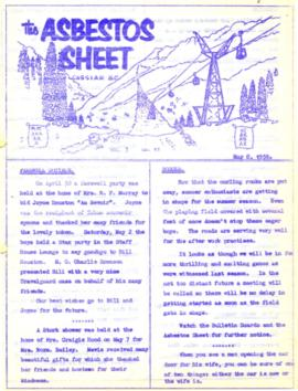 The Asbestos Sheet May 1959