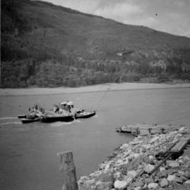 Reaction ferry on the Fraser River at Lytton, BC