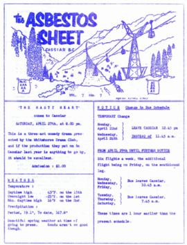 The Asbestos Sheet Apr. 1963
