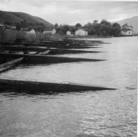 Ramps used for drawing storm wheelers out of water at the CPR boatyard on Okanagan Lake