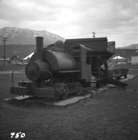 0-4-0 Porter saddle tank locomotive located in Fernie