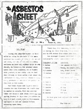 The Asbestos Sheet Mar. 1966
