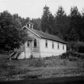 Abandoned church at Extension, B.C.