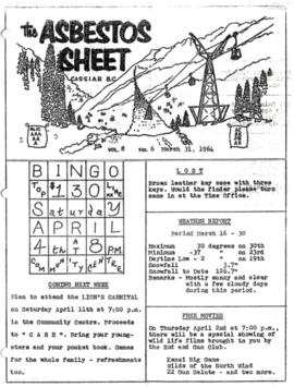 The Asbestos Sheet Mar. 1964