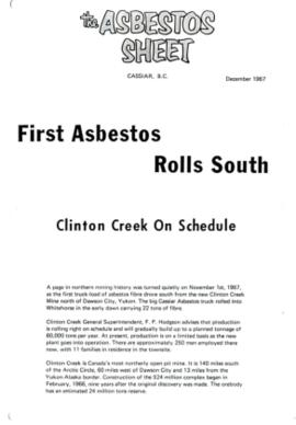 The Asbestos Sheet Dec. 1967