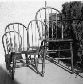 Renovated windsor kitchen chairs