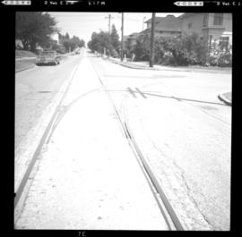 Street car tracks, New Westminster