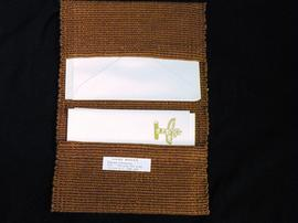 Hand-woven stationary folder with totem notecards