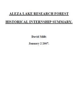 ALRFS Natural Resource History Internship