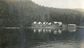 Camp at Texas Point, Christina Lake, in August