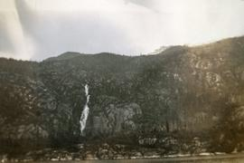 Waterfall on a mountainside