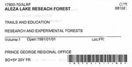 Aleza Lake Research Forest - Trails & Education