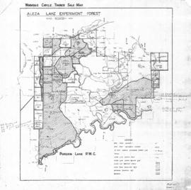 Aleza Lake Experiment Forest Working Circle Timber Sale Map
