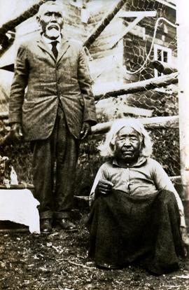 Chief Gideon and his wife on upper Nass River, BC