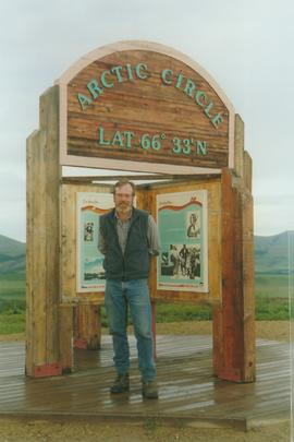 Paul Sanborn at the Arctic Circle, Dempster Hwy