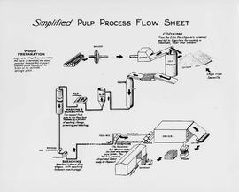 Simplified Pulp Process Flow Sheet