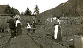 Marion and W.H. Collison with daughter-in-law and grandaughters in Kincolith, BC